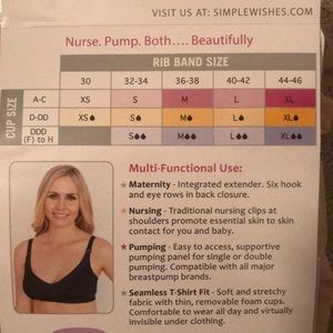 e24d257f65 Simple Wishes Intimates   Sleepwear - Simple Wishes Supermom nursing   pumping  bra